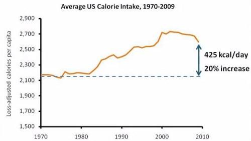 Apport calorique aux États-Unis