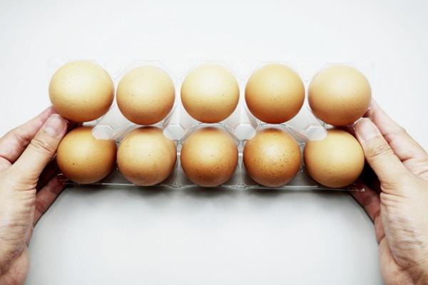 Carton de dix œufs bruns
