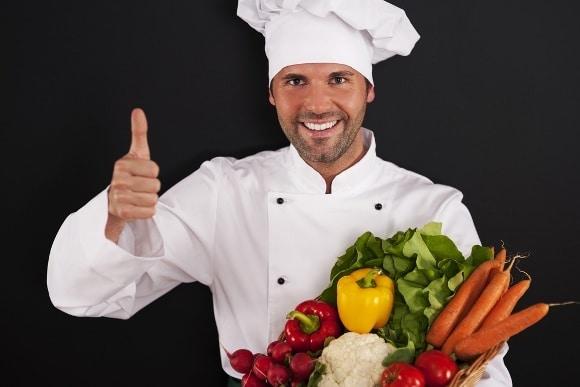 Chef Thumbs Up Veggies