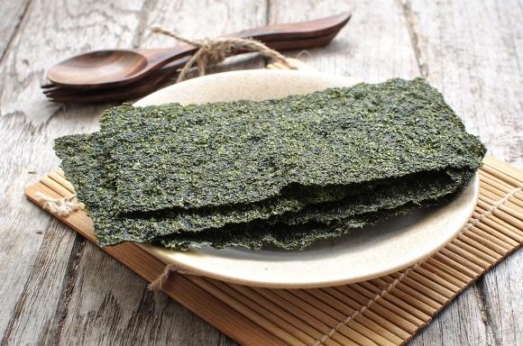 Algues séchées sur plaque