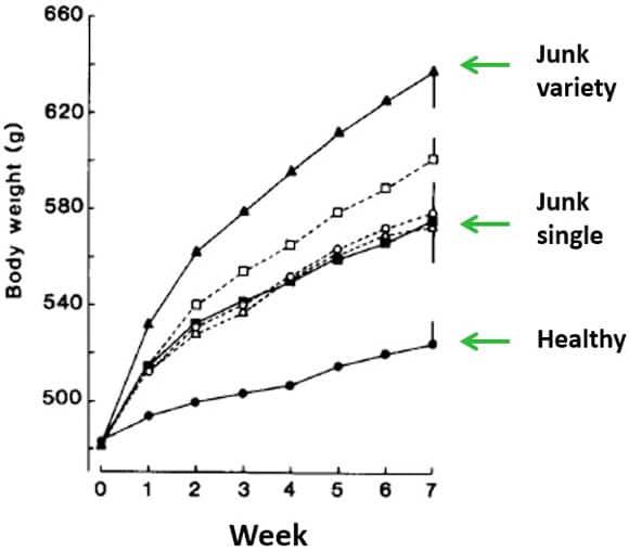 Variété alimentaire et gain de poids