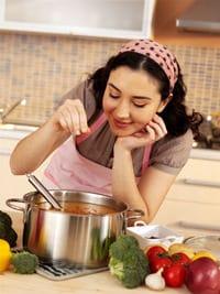 Femme au foyer, cuisine