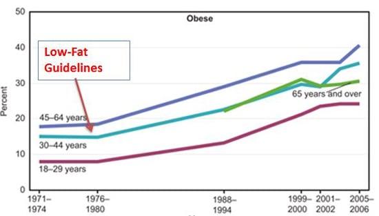Lignes directrices faibles en gras et épidémie d'obésité