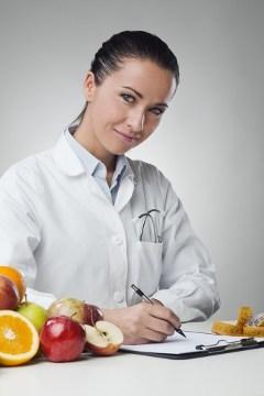 Écriture nutritionniste sur le presse-papiers