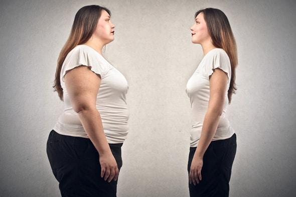 Obèse vs femme mince