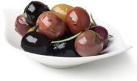 Olives avec différentes couleurs