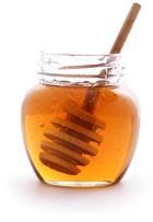 Pot de miel ouvert