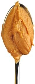 Beurre d'arachide dans une cuillère