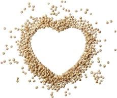 Quinoa en forme de cœur
