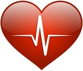 Coeur rouge, concept de santé