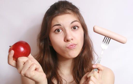 Saucisse ou pomme