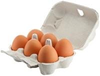 Six œufs dans un carton