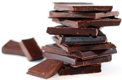 Blocs de chocolat empilés
