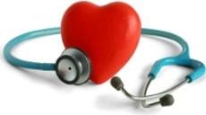 Stéthoscope sur coeur