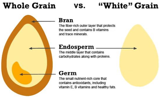 Grains entiers ou raffinés