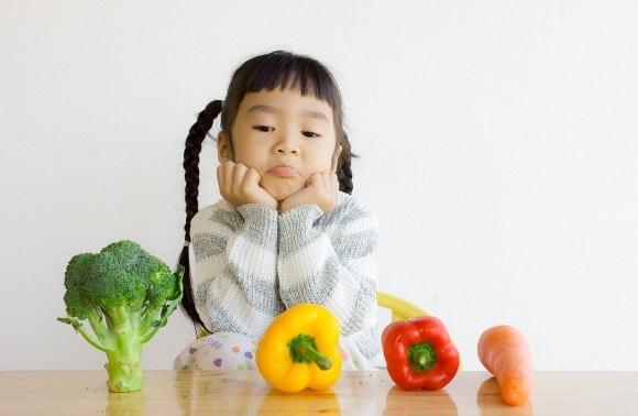 Jeune fille, à, légumes